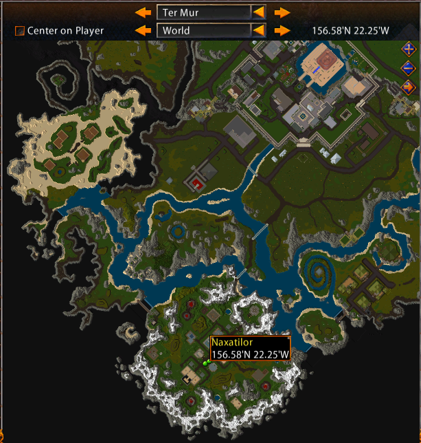 Map of Naxatilor's Quest Location